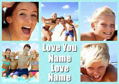 Personalised Your Photos Love You Collage Theme A4 Photo Print Poster