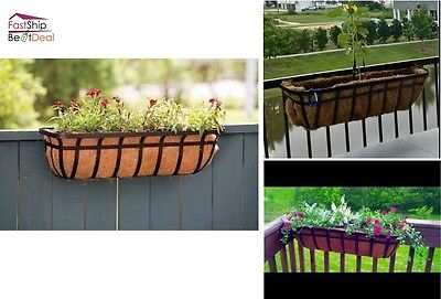 Window Box Planter 30 Inch Flower Garden Hanging Deck Patio Plant