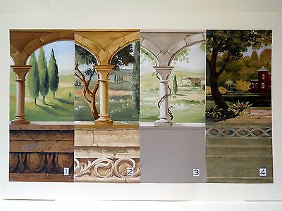 Verdant Terraces & Tromp l'oeil Interiors - Lush, Garden Inspired Diorama Rooms