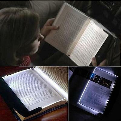 Paperback Night #P Vision Travel Reading Book Page LED Light Lamp Wedge Panel