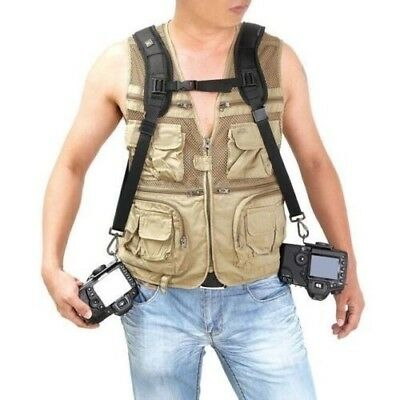 Fast Double Dual Cameras Shoulder Belt Strap Sling for Nikon Canon Sony DSLR SLR