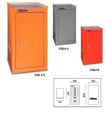 Beta Tools C38La Red Toolbox Cabinet Or Side Cabinet With Shelf