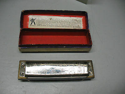 HOHNER MARINE BAND  HARMONICA  No. 1896 -- A440    KEY OF C  VINT  GERMANY