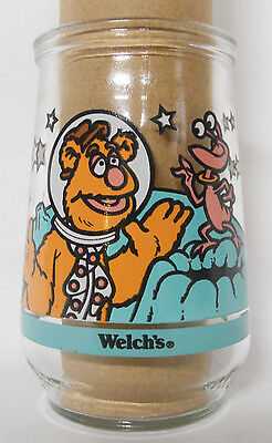 1998 Welch's Muppets in Space Jelly Jar Glass #3-Fozzie Bear Gets a Giggle