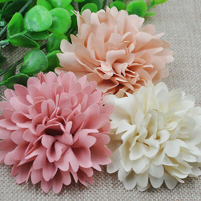 9pcs 75mm Big Ribbon Flowers Bows Rose Wedding Craft Decor Appliques MIX E173