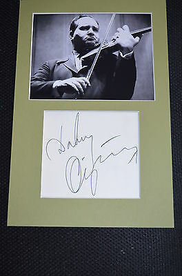 DAVID OISTRACH signed Original Autogramm A4 In Person Passepartout +74 VIOLINE