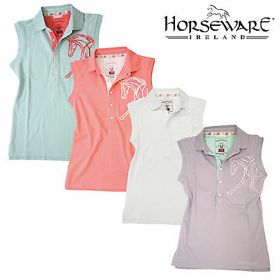 Horseware Flamboro Ladies Sleeveless Polo Top
