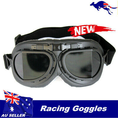 Motorcycle Scooter Riding Goggles Harley Open face helmet goggles tinted lens TD