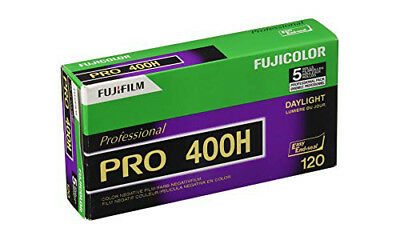 Fuji Color Pro 400H ISO 400 120 Color Negative Film 5 Roll Pro Pack FRESH DATED