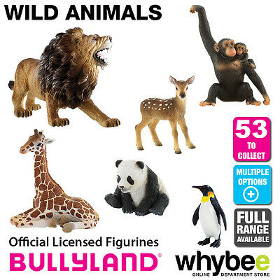 Genuine Bullyland Wild Animals Collection Plastic Figurines Figures Full Range!