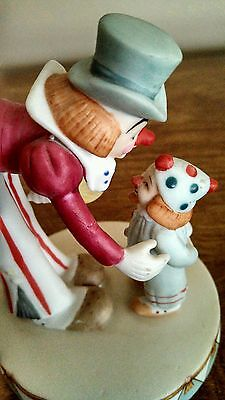 Vintage Circus Royale Tall/Short Clowns Figurine Wallace Berrie #9609