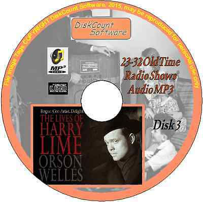 Orson Welles -The Lives of Harry Lime - 10 Old Time Radio Episodes MP3 CD3 Crime