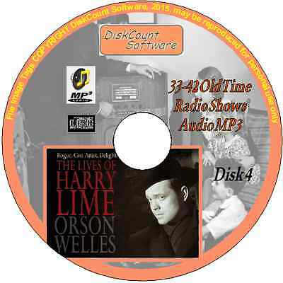 Orson Welles -The Lives of Harry Lime - 10 Old Time Radio Episodes MP3 CD4 Crime