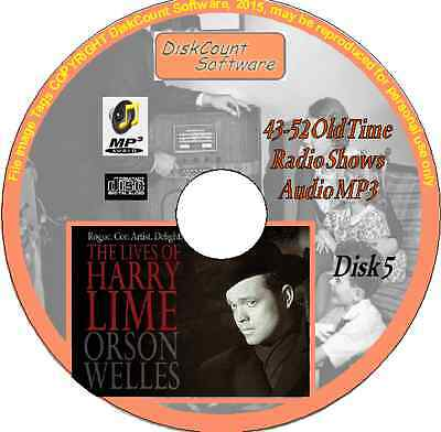 Orson Welles -The Lives of Harry Lime - 10 Old Time Radio Episodes MP3 CD5 Crime