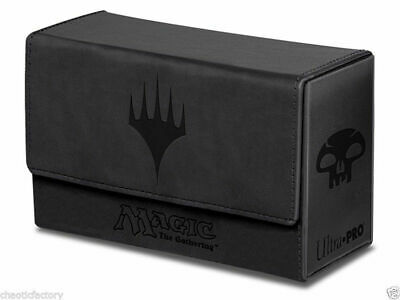 ULTRA PRO Magic: The Gathering - Mana Dual Black Leather Double Deck Box