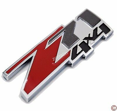 Red Z71 4x4 Fender Trunk Emblem Badge Plate Decal for GM GMC Suburban Avalanche