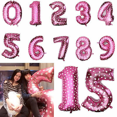 """16""""/40"""" Useful Number 0 to 9 Foil Giant Birthday Wedding Party Balloon Decor"""
