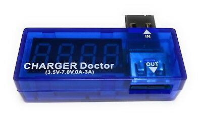 USB Current and Voltage Tester - inline charger power tester