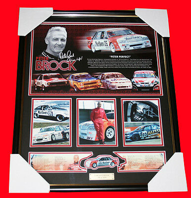 FREE postage!  Peter Brock Signed Memorabilia Frame, Limited Edition 499 w / COA
