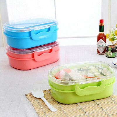 Lock&Lock 2 Layer Portable Lunch Box Food Contain Bento Box Lunch Containers Box