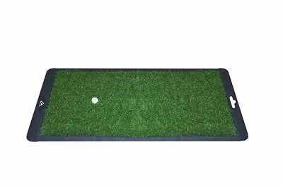 "LAUNCH PAD GOLF PRACTICE MAT 8"" x 16"" GREEN / Golf Training Aid"