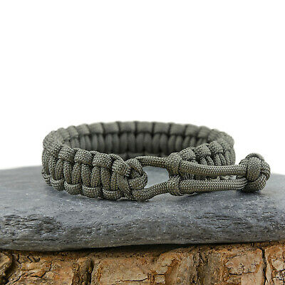 Paracord Survival Bracelet - Mad Max Inspired - Adjustable - Foliage Green