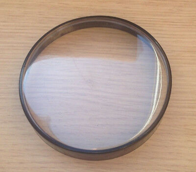 Vespa Px 200 Replacement Speedo Rim & Lens- Black 105Mm Rim. Plastic Lens.