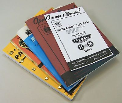 Farmall M Mv Tractor Service Manual Set Owner Operator Repair Shop Parts Catalog