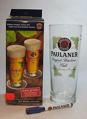Paulaner Beer Glass Original Munchner Hell  Perfect Condition!