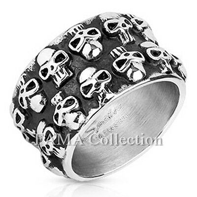 Top Quality FAMA Sugar Skull Casted Biker Ring Stainless Steel Size 9-14