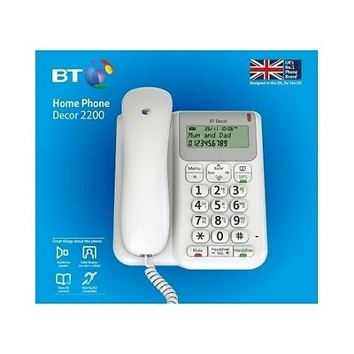 Big Button Phone Large Display Corded Hands Free BT Home Speaker Best Caller ID