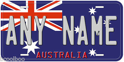 Australia Flag Any Name Personalized Novelty Car License Plate