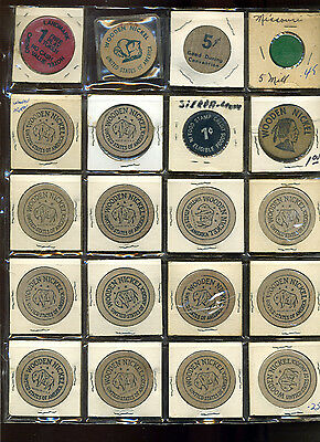 Nice Lot of CollectibleWooden Nickles & More from Old Dealer Stock (Lot #616)