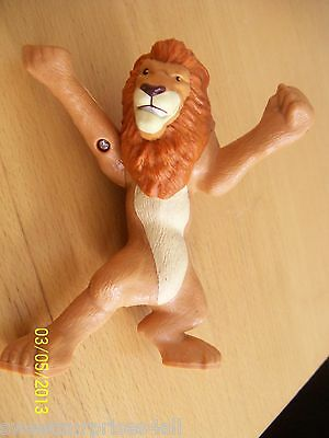 "disney lion action figure hard plastic animal figural play toy 5"" tall"