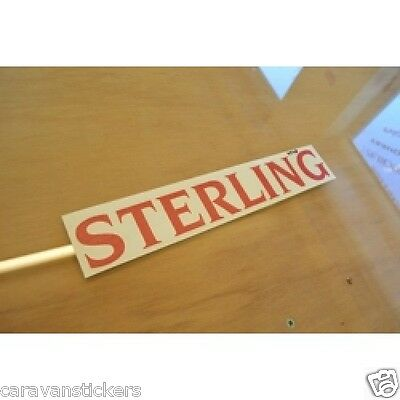 STERLING - (STYLE 3) - Caravan Name Sticker Decal Graphic - SINGLE
