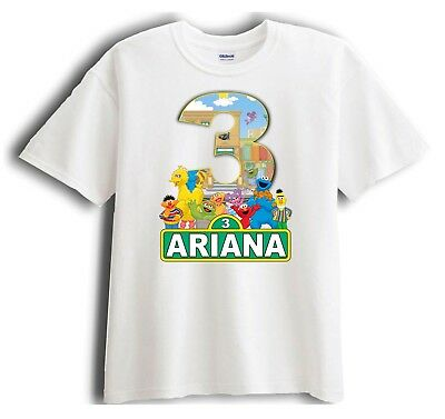 Sesame Street Personalized - Birthday T-Shirt Party Favor