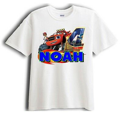 Blaze and the Monster Machines Personalized - Birthday T-Shirt Party Favor