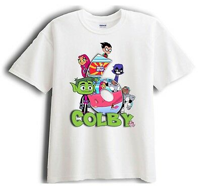 Teen Titans Go - Beast Boy - Personalized - Birthday T-Shirt Party Favor