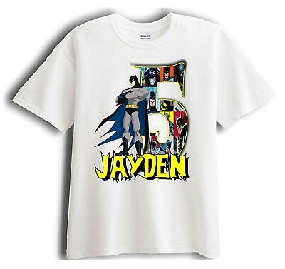 Batman Personalized - Birthday T-Shirt Party Favor