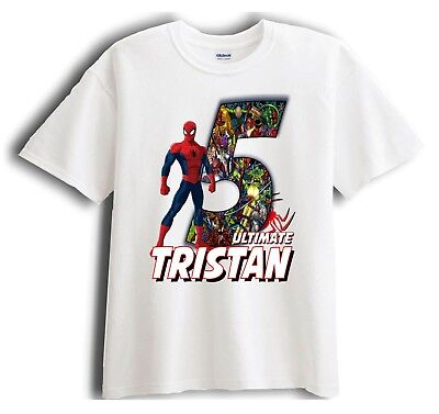 Spiderman Personalized - Birthday T-Shirt Party Favor