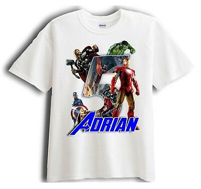 Avengers Iron Man Personalized - Birthday T-Shirt Party Favor
