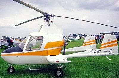 J-2 McCulloch Utility Autogyro Helicopter Wood Model Replica Large Free Shipping