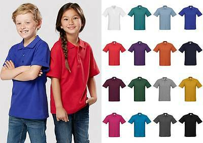 Kids Crew Polo Shirt P400KS | Boys, Girls, Casual, Plain, Sports, Team, Uniform