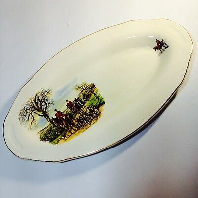 RARE LORD NELSON WARE THE HUNTSMAN Oval Serving DISH England Staffordshire