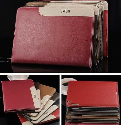 Luxury Soft Leather Smart Case Stand Magnetic Cover for iPad 2 3 4 6 Mini Air NW