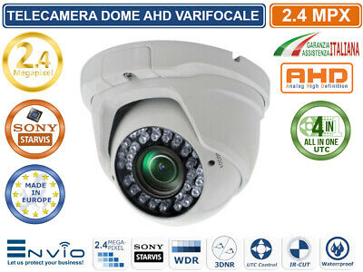 TELECAMERA DOME VARIFOCALE AHD 2.8-12mm 24 SMD IR LED 1080P 2.4MPX 1920X1080