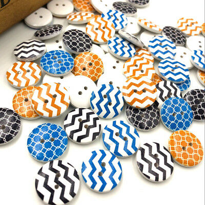 New 10/50/100/500pcs SLine Wood Buttons 20mm Sewing Craft Mix Lots WB186