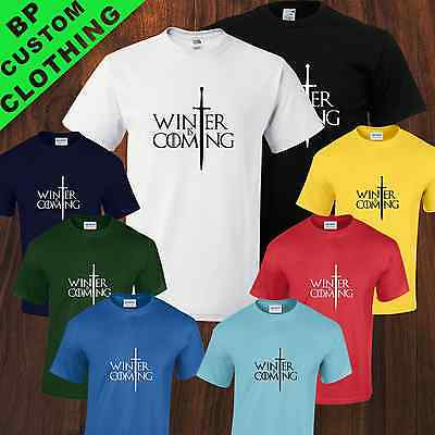 Game of Thrones Inspired Winter is Coming TShirt / Jon Snow Stark SMALL TO 5XL