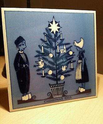 Delft Christmas Tile, 6 X 6 inches. 1968