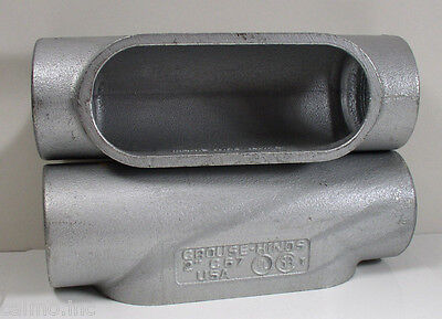 """(2) Crouse-Hinds C67 2"""" Conduit Body Lot of 2"""